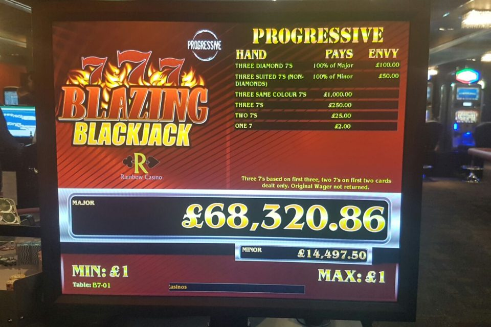 Blazing Blackjack: A Major Jackpot